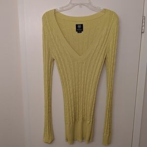 American Eagle Outfitters yellow/green sweater
